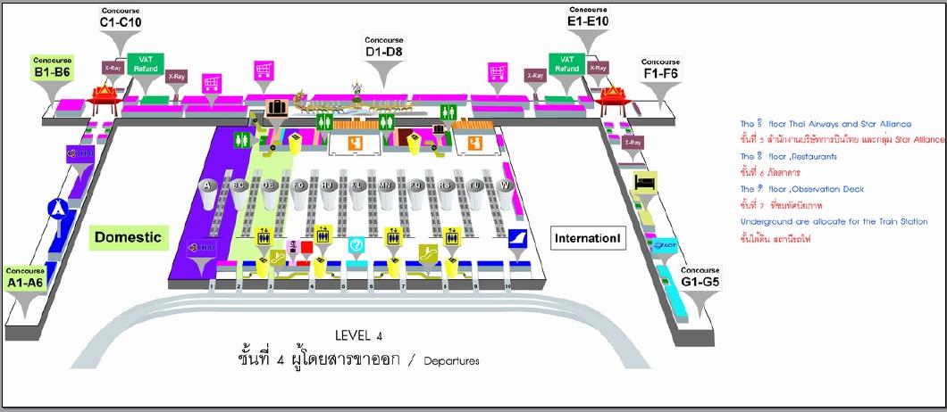 Orientation map of Bangkok airport