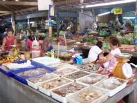 Muslim village - market place