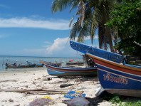 Muslim village - fishing boats